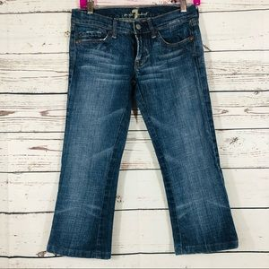 7FAM Seven For All Mankind Capri Jeans Crystal 26